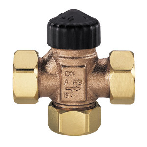 """HEIMEIER, Трехходовой смесительный клапан (плоские прокладки) DN20 3/4"""""""