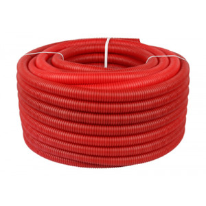 Труба гофрированная STOUT 25, цвет красный