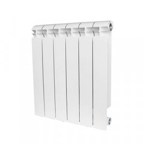 Радиатор биметаллический STOUT ALPHA 500 4 секции (белый RAL 9016)