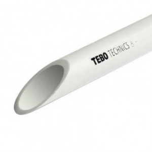 Труба полипропиленовая TEBO 75х6,9 PN 10 (SDR 11)