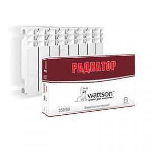 Радиатор литой биметаллический Wattson BM 350 080 08 секций